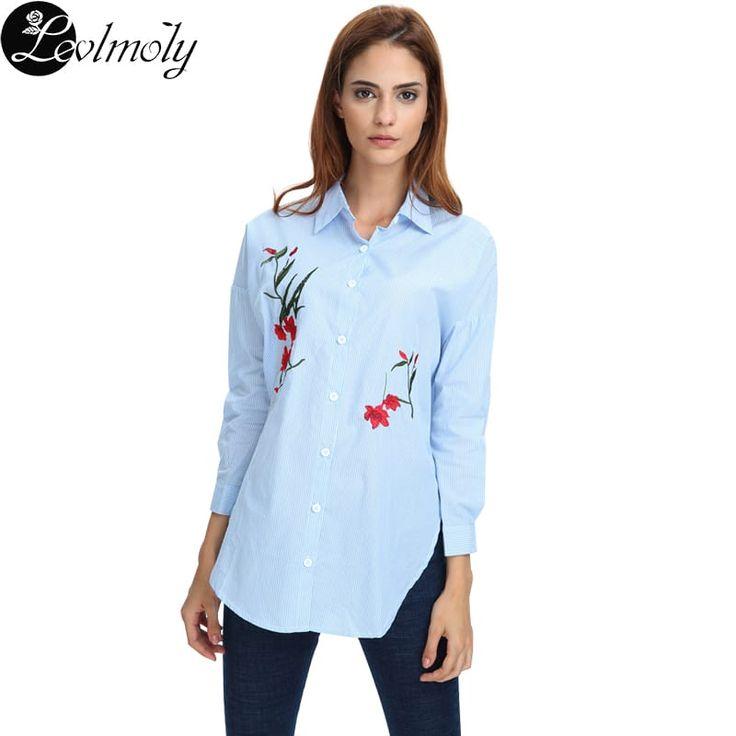 Women's Loose Fit Stripe Cotton Blouse Shirts YC12346 //Price: $21.95 & FREE Shipping //     #stylish