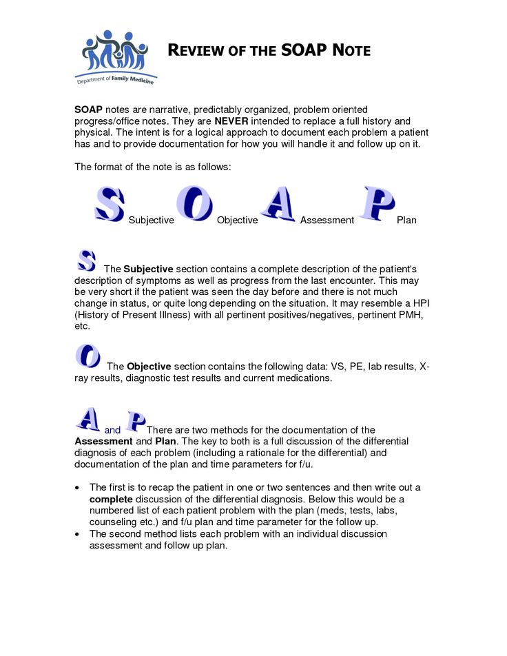 Best Soap Notes Images On   Occupational Therapy Soap