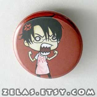 xXxHoLic Watanuki Button by zelas on Etsy, $2.00