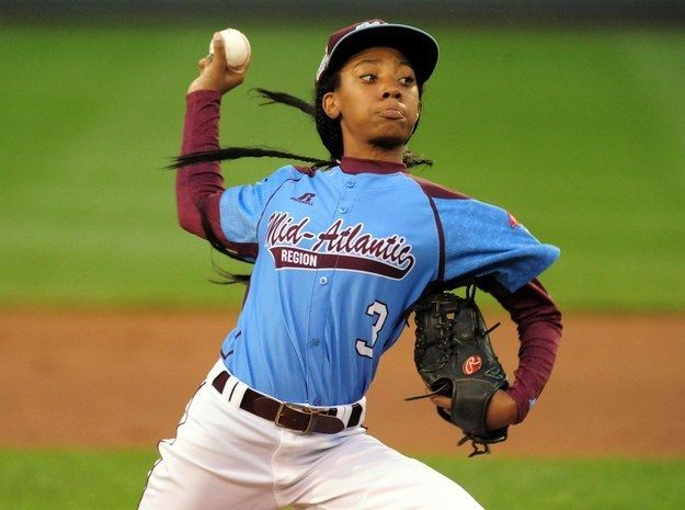 """The girl who made boys wish they could """"throw like a girl."""" 