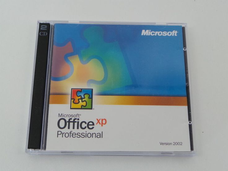 Microsoft office xp professional