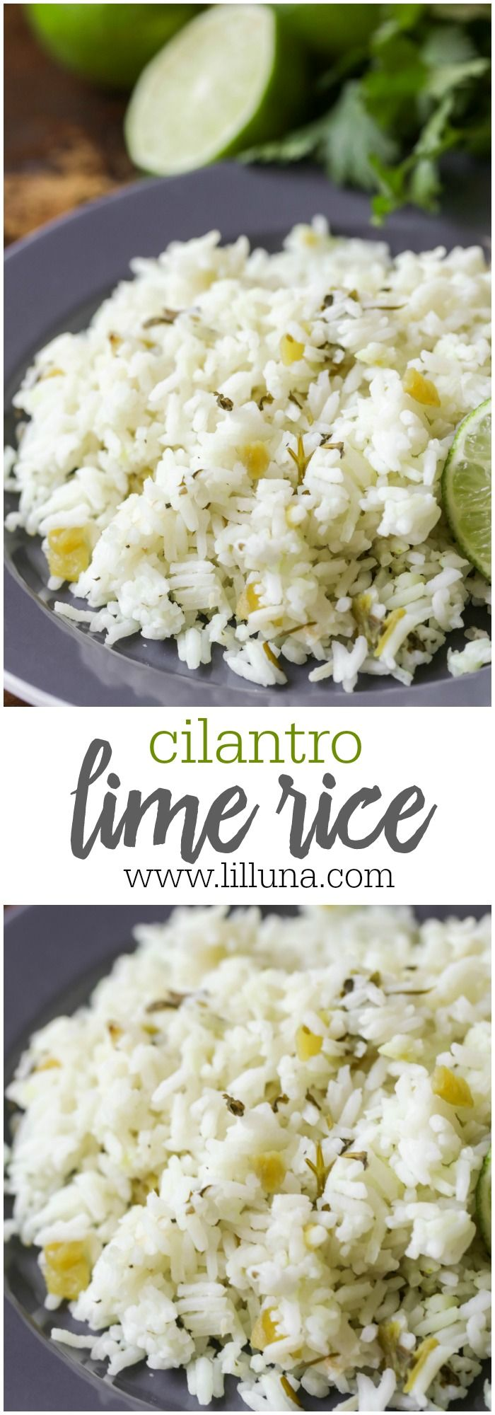 Copycat Cafe Rio Cilantro Lime Rice - a simple and flavorful recipe for rice perfect as a side dish with any of your Mexican meals.
