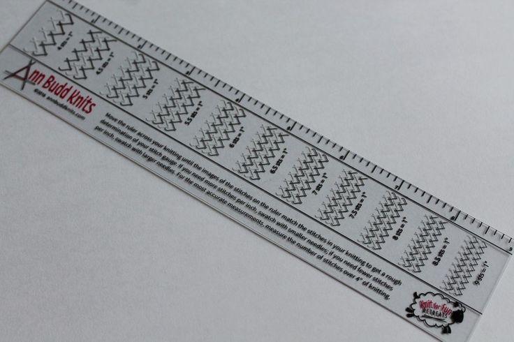 Knitting Tension/Gauge Ruler