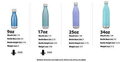 Simple Modern Una botella de agua Wave de acero inoxidable de 17 onzas Azúl