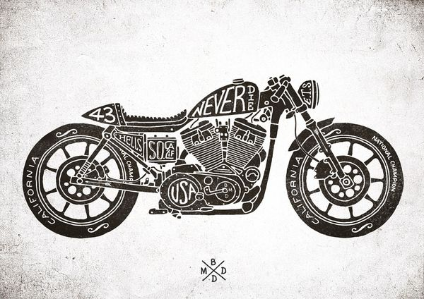 Cafe Racer by bmd design by BMD Design , via Behance