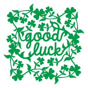 Silhouette Design Store: good luck leafy clover frame