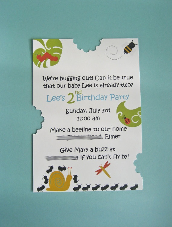 322 best animal party invitations images on pinterest animal party adorb bug invite stopboris Choice Image