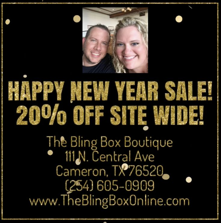 www.TheBlin​gBoxOnline.com - Hey Pinterest Fans! The Boutique will be closed on New Years Day, but the online sale starts NOW! 20% Off and FREE Shipping! Enter Code NEWYEAR2018 at the online check out and enjoy 20% Off your entire sale and FREE Shipping. This Sales Expires at Midnight CST on New Years Day! You'll still earn a Loyalty Stamp as well on the paper card or digital FLOK App Version. Shipping Run is Tuesday at 4 pm. Instore pick up is available as well! Happy New Year!