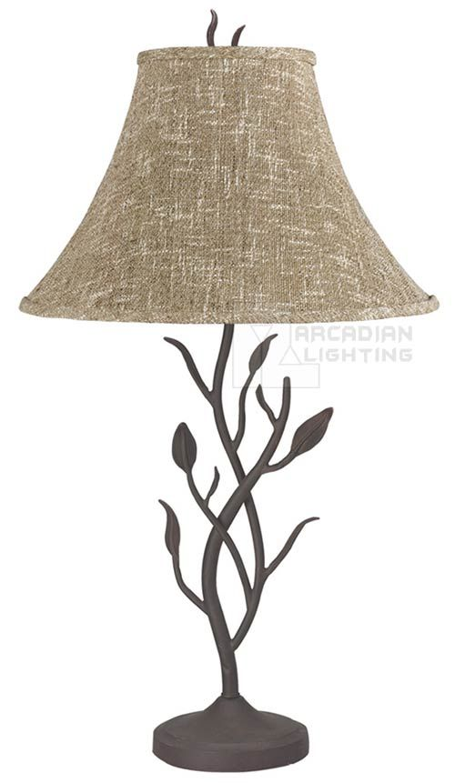Cal Lighting BO-768 Craftsman Wrought Iron Table Lamp BO-768