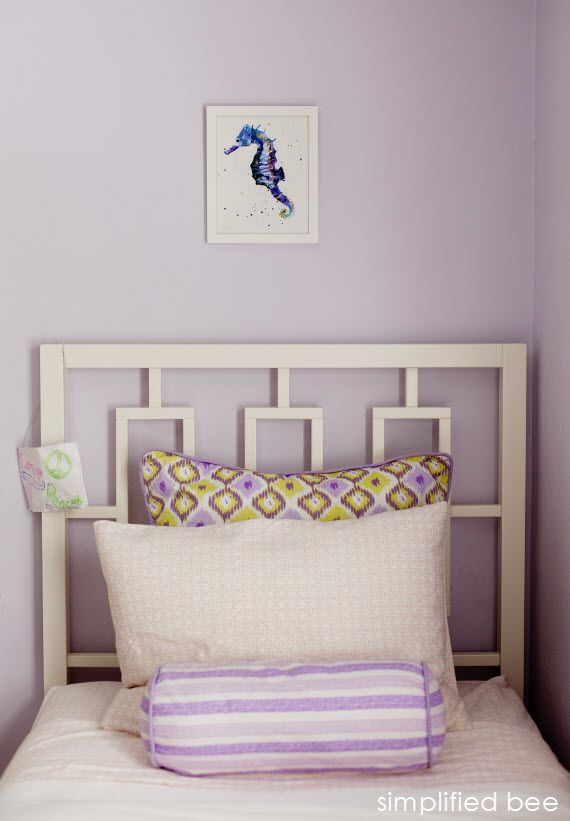 purple and green girl's bedroom design // Simplified Bee