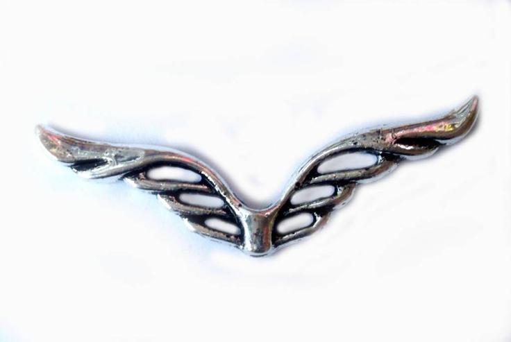 10 stuks Vleugels Zilverkleur 41x11m