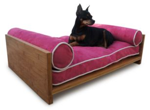 The Bambú Daybed is Pet Lounge Studios most transitional and luxurious design. Fit for the little kings and queens of the world! It is a true piece of furniture and will add warmth to the finest home interiors.  It is created with rich, solid bamboo and contains an orthopedic memory foam mattress along with two bolster pillows so your furry family member can comfortably rest their head over the side.