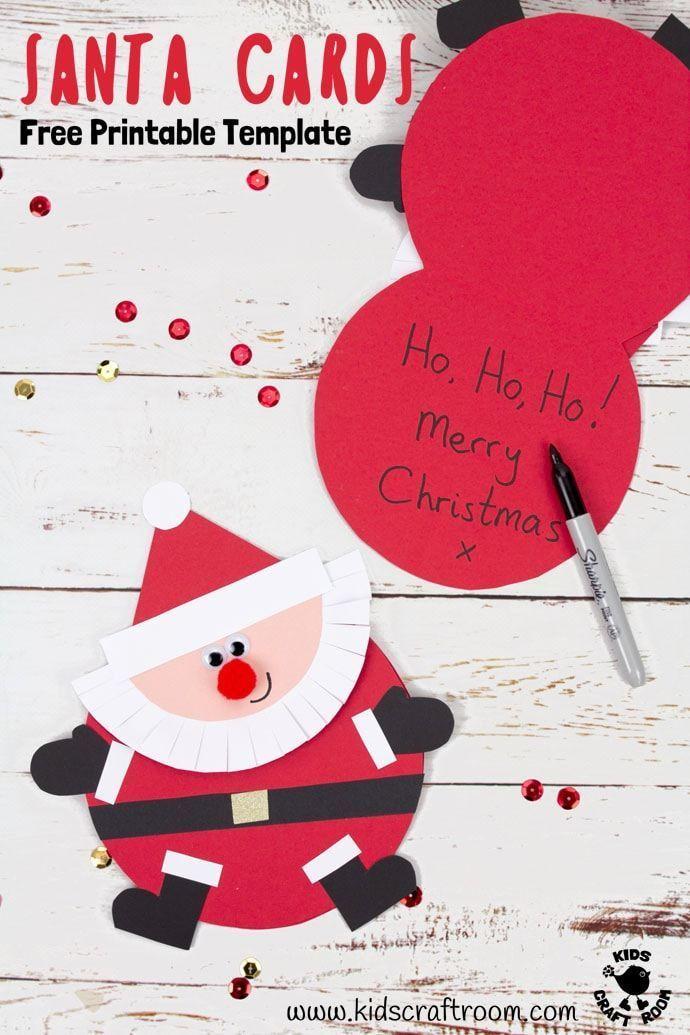 Santa Christmas Cards Christmas Pinterest Christmas crafts