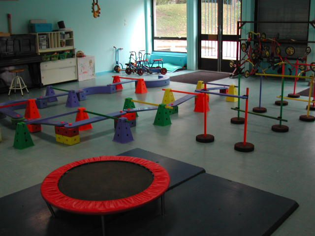 Gross motor obstacle course.  Visit pinterest.com/arktherapeutic for more #grossmotor activity ideas