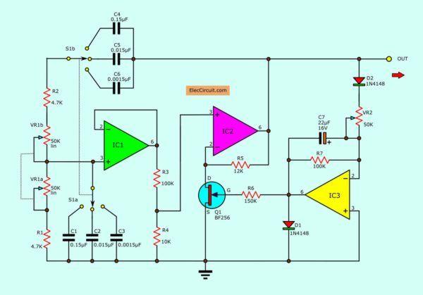 Wien Bridge Oscillator Circuits Using Op Amp And Fet Circuit
