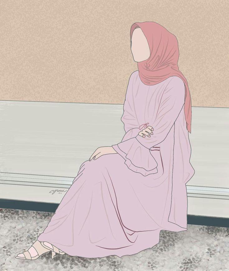 Картинки девочки в хиджабе нарисованные