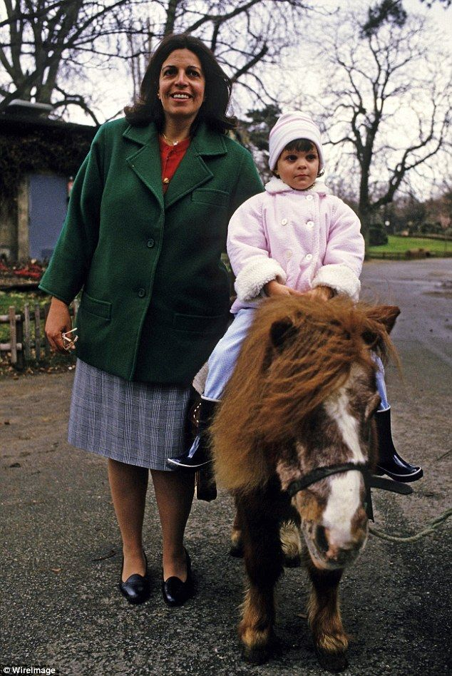 Christina Onassis, daughter of Greek shipping magnet Aristotle Onassis, is seen with Athina, at Le Jardin d'Acclimation in Paris, France. Athina's early childhood had been the stuff of dreams. Her mother gave her her own flock of sheep, complete with a shepherd, when she learned the nursery rhyme Baa Baa Black Sheep. She also gave her a private zoo