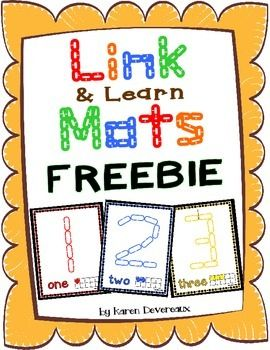 Put your chain link manipulatives to use!Students will place links on mats to create numbers!  Includes Numbers:  1, 2, 3A great number recognition activity!  Your students will learn numbers while honing their fine motor skills.Just print onto card stock and laminate.