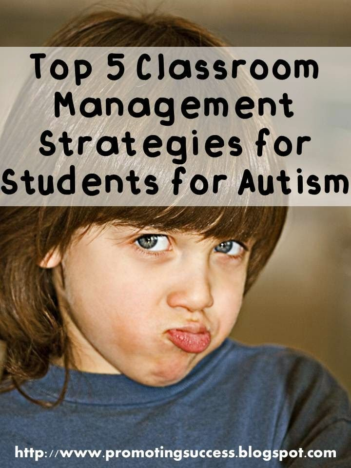 FREE Top 5 Autism Classroom Management Strategies!  While the cause of autism is still unknown, there are specific strategies that have been identified as most effective. Here are the top five most effective strategies.  Read more at:  http://promotingsuccess.blogspot.com/2013/01/thematic-thursday-autism-help.html