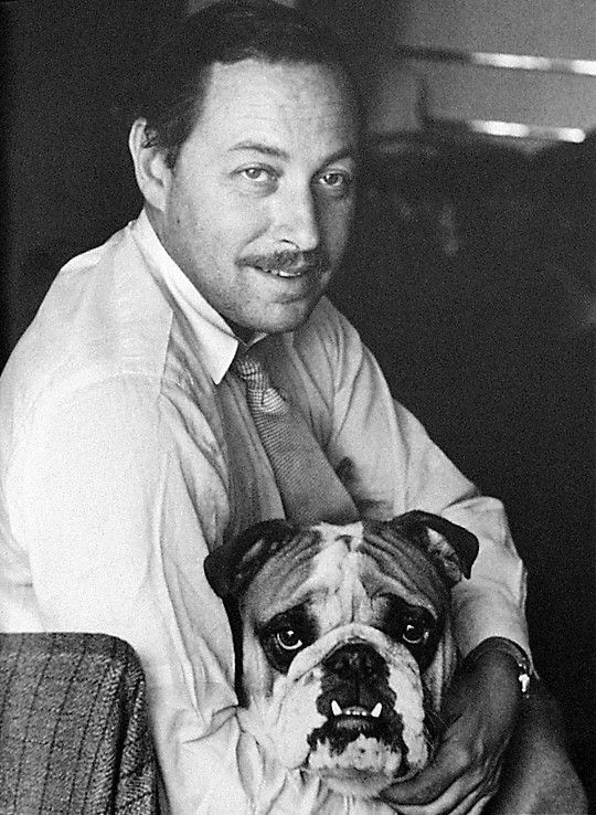 Tennessee Williams with his beloved Gigi.