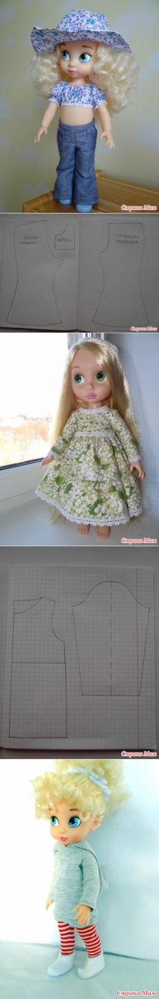 Los patrones de la colección de ropa y calzado de Disney animadores '- Disney Muñecas .... - casa las mamás