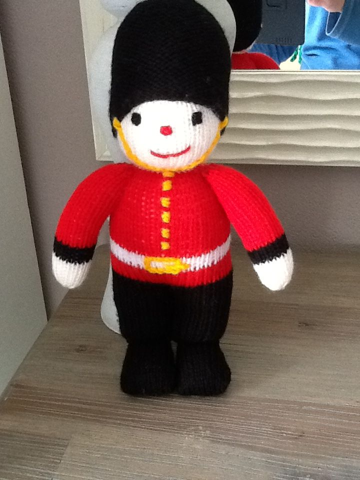 Little soldier.  Knitted just before Christmas 2014. A Jean Greenhowe pattern.