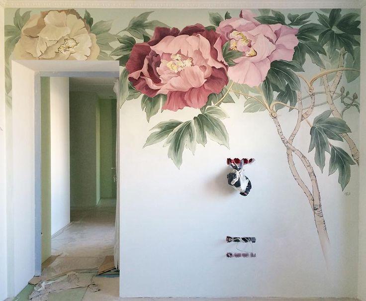 Декор стены за тв  в гостиной. Вобщем рабочие майские праздники  #decor #design #painting #art #я #interior #designer #room by kristinezart