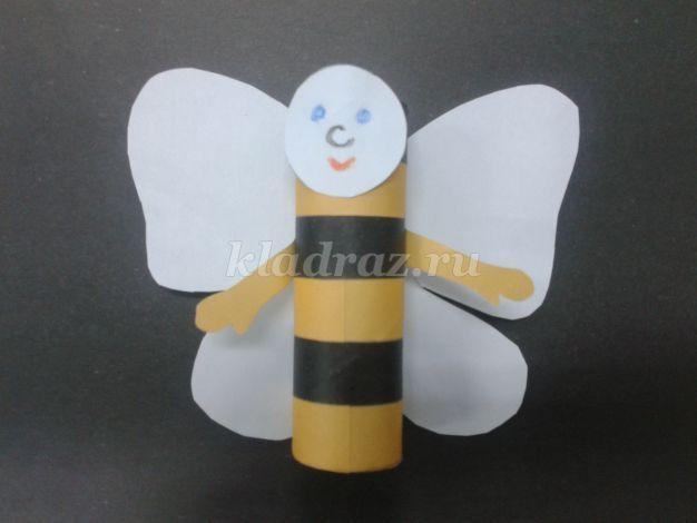 """Поделка из бумаги """"Пчёлка"""" своими руками с детьми 3-4 лет. Мастер-класс с пошаговым фото."""