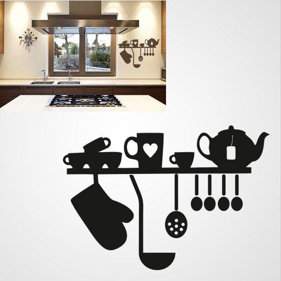 Keuken Set – Stickers en Sjablonen voor op de Muur