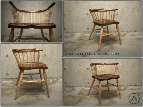 Walnut - Half-Windsor Chair