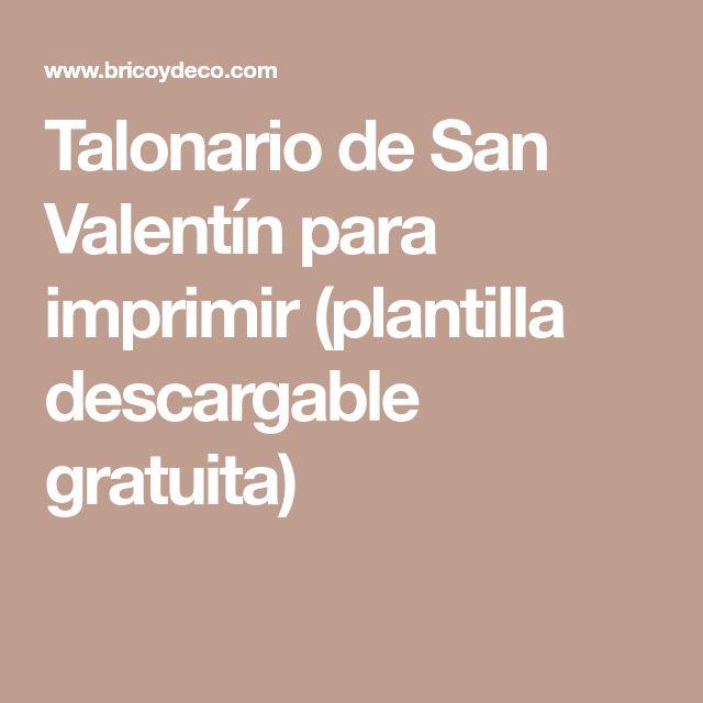 Talonario de San Valentín para imprimir (plantilla descargable gratuita)