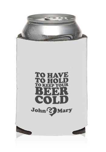Custom Collapsible Wedding Can Cooler | KZW89 - Discount Mugs