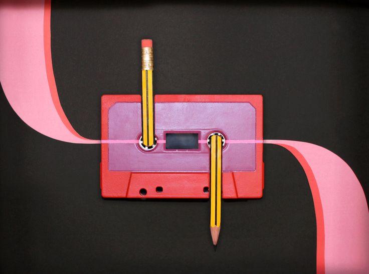 Benoit Jammes // Artworks // Cassette Tape Art