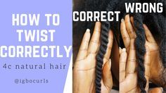 How To Twist Natural Hair Properly for Twist Outs [Video] Read the article here - http://www.blackhairinformation.com/video-gallery/twist-natural-hair-properly-twist-outs-video/