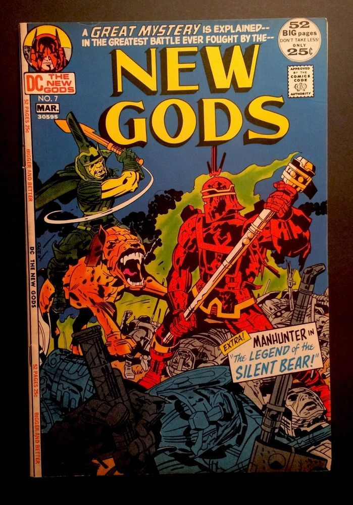 New Gods 7 1st Appearance Steppenwolf DC Comics Jack Kirby 1972 FN VF   eBay