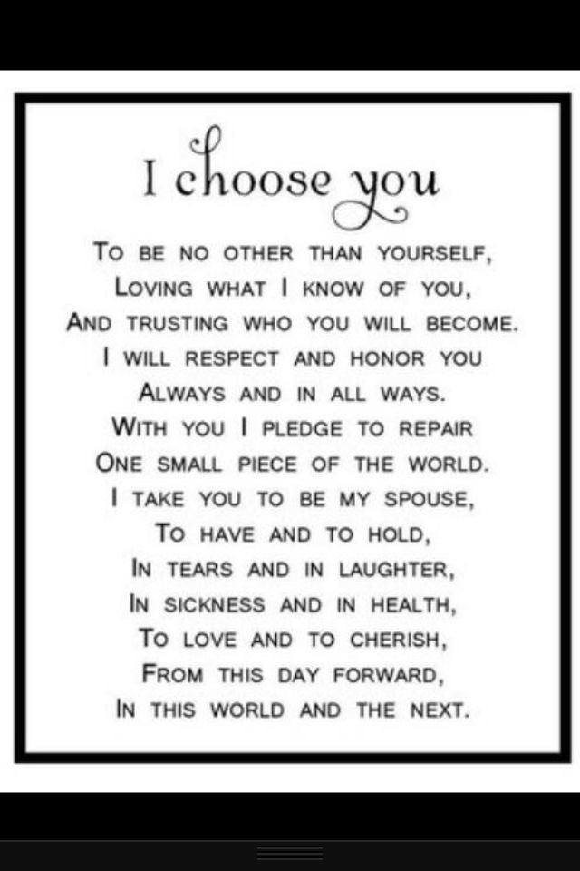 21 best wedding vows images on pinterest wedding ideas wedding 21 best wedding vows images on pinterest wedding ideas wedding vows and wedding junglespirit Choice Image