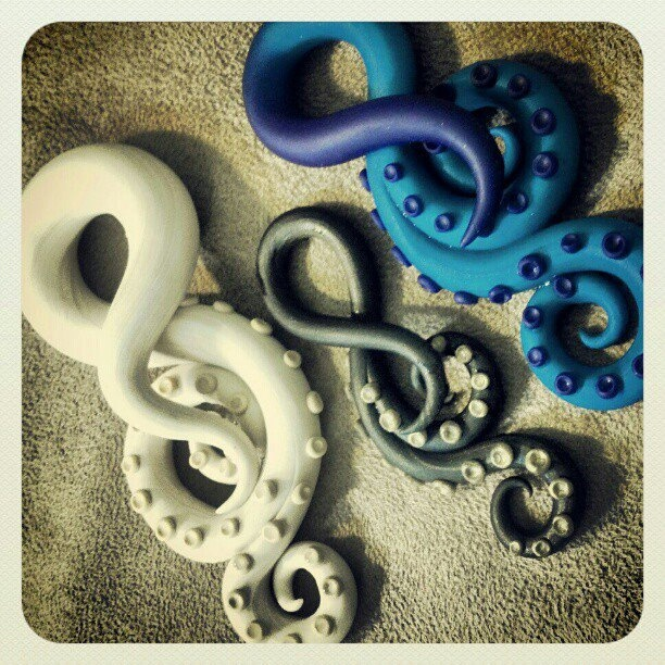 Choose+Your+Color+Tentacles+4g+to+00g++Earrings+for+by+PeachTreats,+$32.00