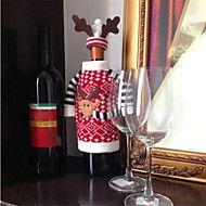 Elch-Stil+Weihnachten+Hirsch+Rotwein+Champagner-Flasche+deckt+Beutel+für+neues+Jahr+Weihnachtsschmuck+Ornament+–+EUR+€+5.08