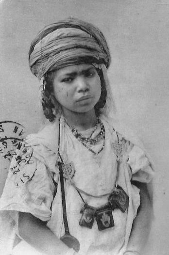 """Africa   """"Young Bedouin from the interior"""".  Algeria    Scanned vintage postcard; published by Jean Geiser"""