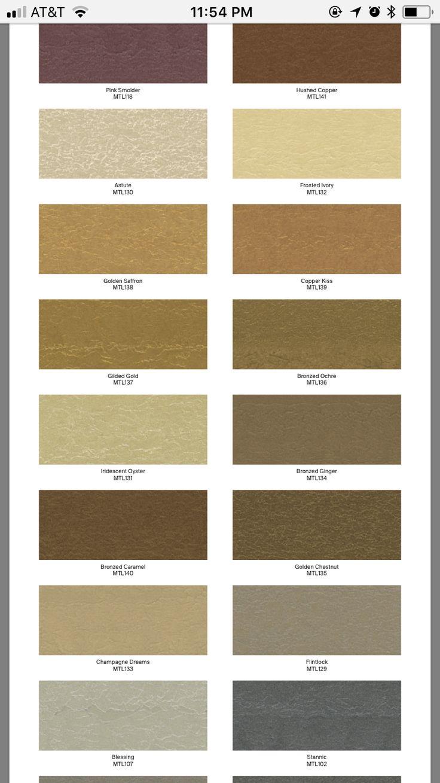 Ppg Metallic Tones Color Palette 24 Hello Hallway In 2019 Metallic Paint Palette Metal