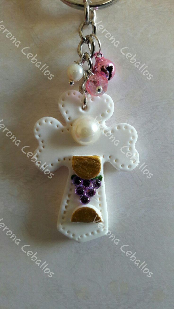 Llavero de porcelana fría by verona Ceballos