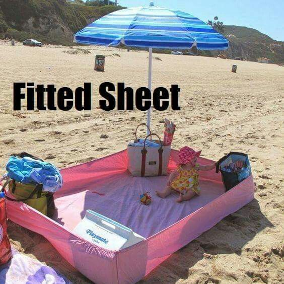 Fitted sheet to use at the beach!