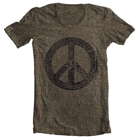 Men's T Shirt Peace Symbol Sign American Apparel Tshirt Tee Short Sleeve Unique Design XS, S, M, L, XL 10 COLORS