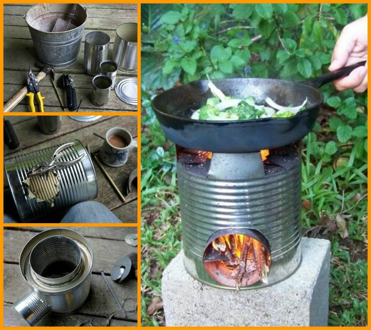 Bring one of these diy rocket stoves to your next camping for Build your own rocket stove