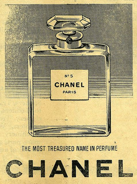 Chanel No. 5 ad from 1958. While the fragrance is not me, you can't deny the…