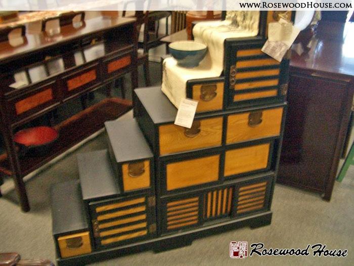 Tansu Step Chest | Rosewood House Fine Furniture U0026 Asian Antiques | Step  Tansu Chest