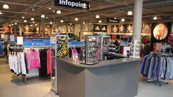 the adidas outlet store offers a wide range of shoes, bags, swimwear, shower gel, basketballs and footballs