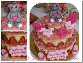 Fraisier � �tage (wedding cake fraisier)