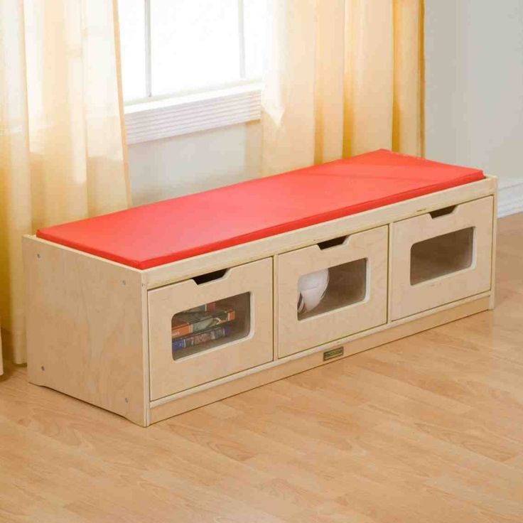 indoor storage bench cushion kids bedroom