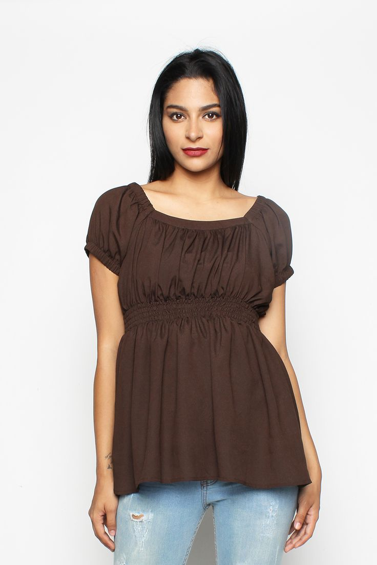 Flow Brown Blouse | Rp 149.000